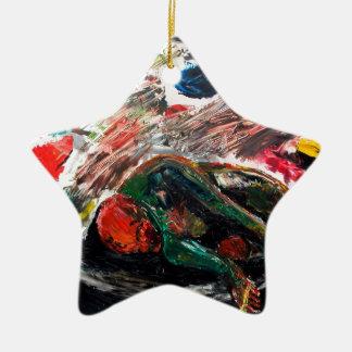 Artist Bed Ceramic Star Ornament