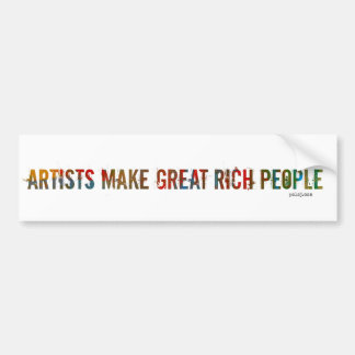 Artist Bumpersticker Bumper Sticker