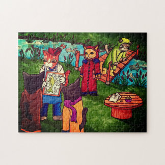 Artist Cat Jigsaw Puzzle