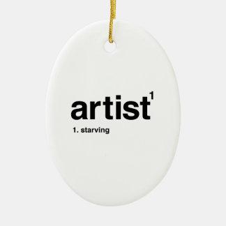 artist ceramic oval ornament