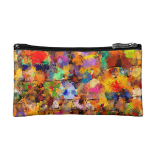 Artist Color Abstract Art Dab Cosmetic Bags