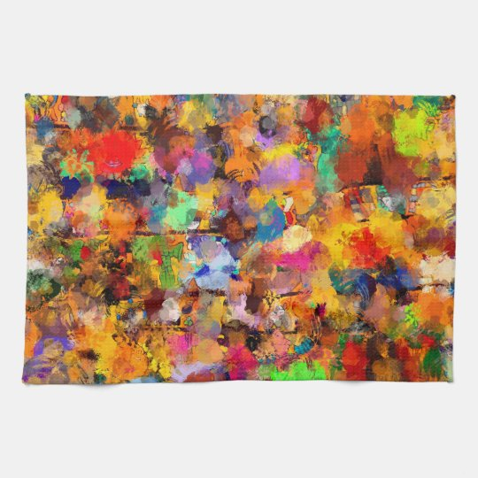 Artist Colour Abstract Art Dab Kitchen Towel