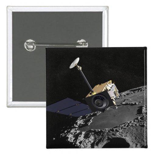 Artist Concept of the Lunar Reconnaissance Orbi Pinback Button