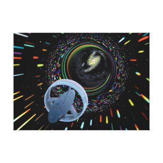Artist concept Spacecraft Alcubierre Warp Drive Canvas Print