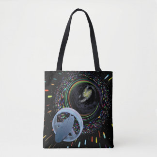 Artist concept Spacecraft Alcubierre Warp Drive Tote Bag