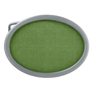 ARTIST Created Dark Green Background Oval Belt Buckles