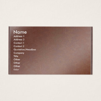 Artist Created Handmade Copper Sheet Business Card