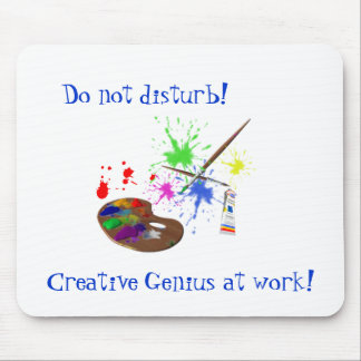Artist Creating-Humor Mouse Pad