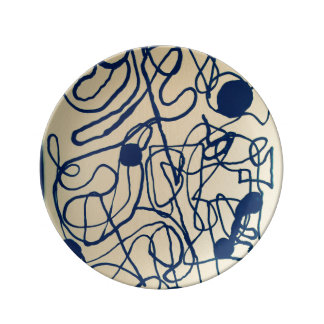 Artist Designed Plate - One of Set of Three Porcelain Plate