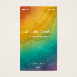 Artist / Designer - Simple Generic Flat UI Style Business Card
