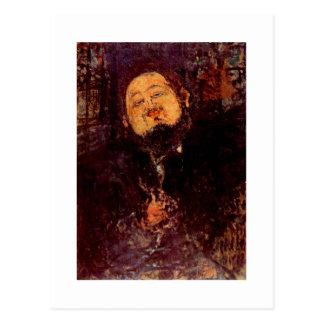 Artist Diego Rivera portrait painted by Modigliani Postcard
