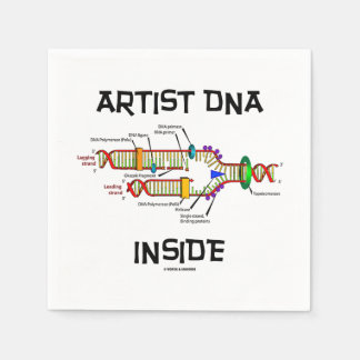 Artist DNA Inside Genes Genetics DNA Replication Paper Napkins