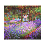 Artist Garden Monet Fine Art Gallery Wrap Canvas