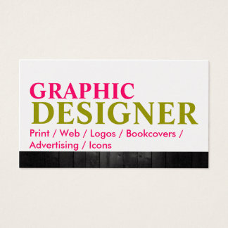 Artist Graphic Design Wood Metal Business Card