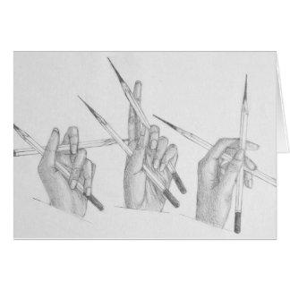 Artist hands card