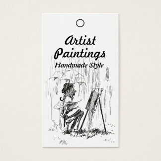 Artist in the Rain Price Product Tag Business Card