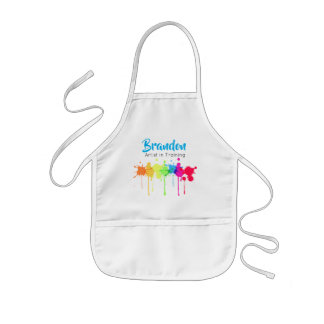 Artist in Training Kid's Apron Blue