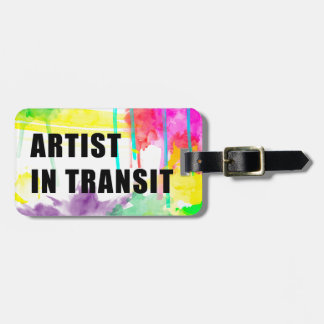 Artist In Transit Luggage Tag Watercolor Drips