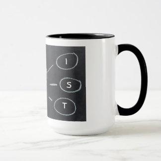 Artist light bulb mug design