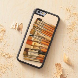 Artist Paint Brushes Carved Maple iPhone 6 Bumper Case