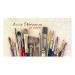 Artist Paint Brushes Painter Art Instruction Business Card Templates