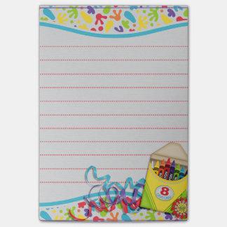 Artist Paint splats crayon box Post it pad Post-it Notes