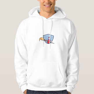 Artist Painter Giant Paintbrush Crest Cartoon Hoodie