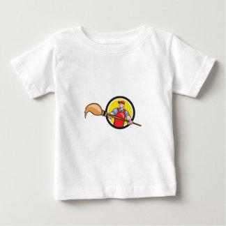 Artist Painter Holding Paintbrush Circle Cartoon Baby T-Shirt