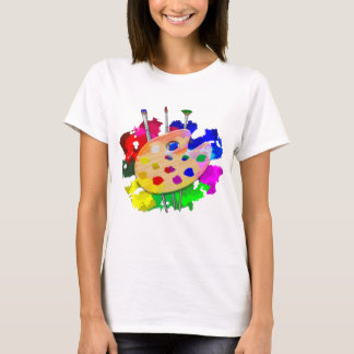 Artist Palette And Brushes T-Shirt
