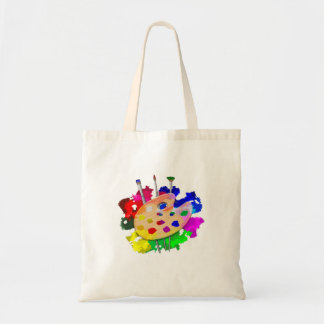 Artist Palette And Brushes Tote Bag