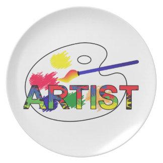 Artist Pallet Plate