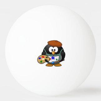 Artist Penguin Ping Pong Ball
