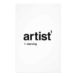 artist personalized stationery
