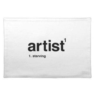 artist placemat