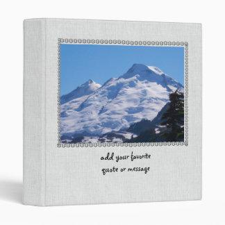 Artist Point Mt. Baker Vinyl Binder