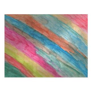 Artist Postcard Watercolor Stripes