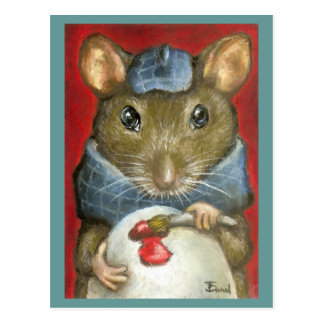 Artist rat postcard