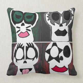 Artist Rendition KISS Skull Art Pillow
