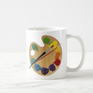 Artist`s palette colour wheel coffee mug