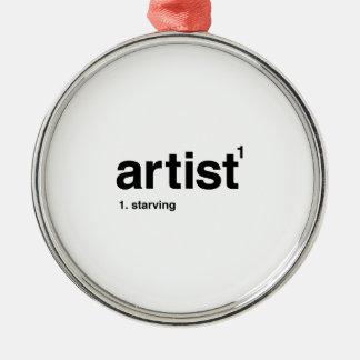 artist Silver-Colored round ornament