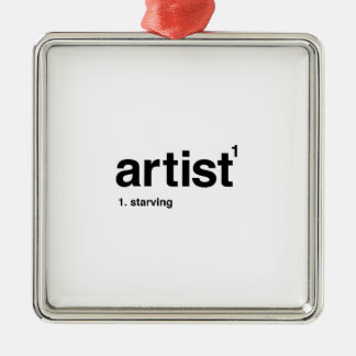 artist Silver-Colored square ornament