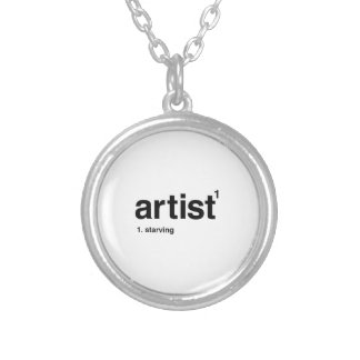 artist silver plated necklace