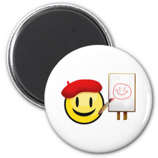 Artist Smiley Magnet