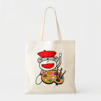 Artist Sock Monkey Tote Bag