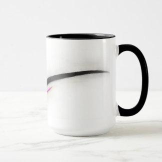 Artist Stroke, black with pink Mug