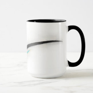 Artist Stroke, black with turquoise Mug