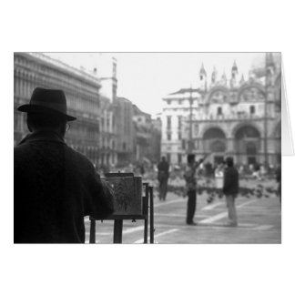Artist Venice Italy Card
