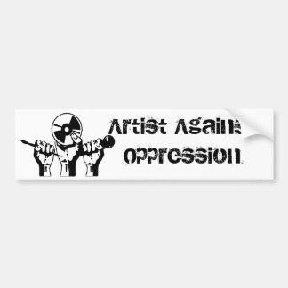 Artiste contre l'oppression autocollant pour voiture