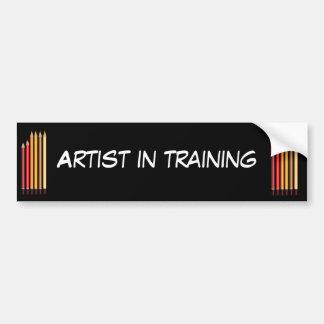 Artiste dans la formation autocollant de voiture