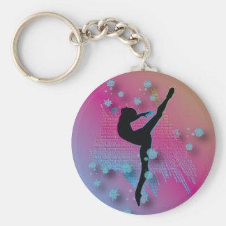 Artiste de danse porte-clé